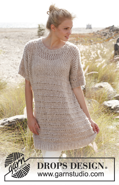 Eyelet tunic knitting pattern