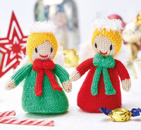 Free Knitting Pattern for Christmas Angels