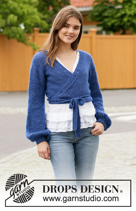Free Knitting Pattern for a Ballet Wrap in Blue