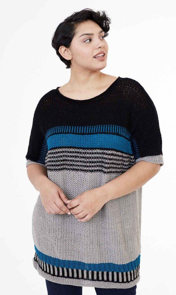 Free Knitting Pattern for a Boxy Tunic