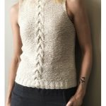 Free Knitting Pattern for a Central Cable Tank Top