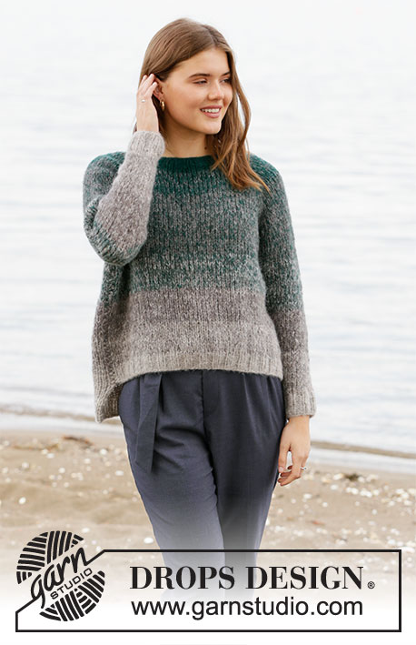 Free Knitting Pattern for a Forest Shadows Sweater with Raglan