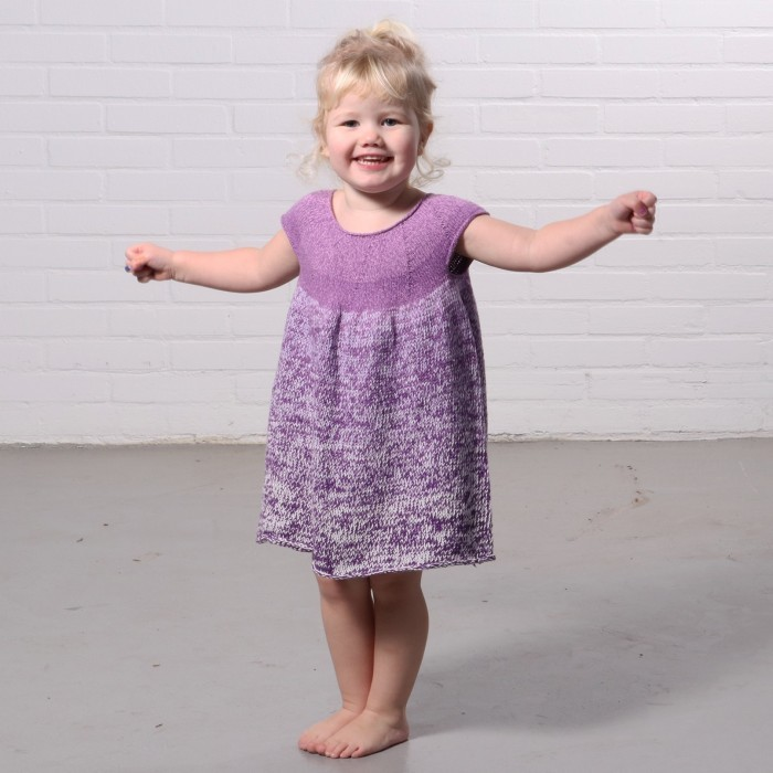 Free Knitting Pattern for a Girl's Nora Dress