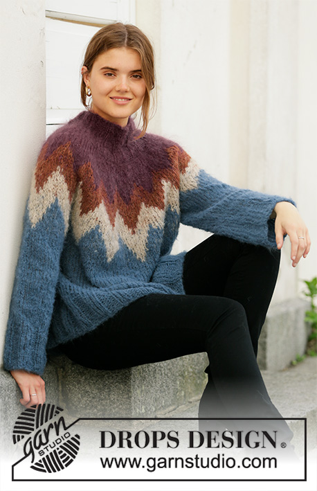 Free Knitting Pattern for a Morocco Love Nordic Style Sweater