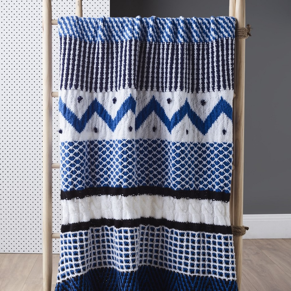 Free Knitting Pattern for a Spot Saver Sampler Throw
