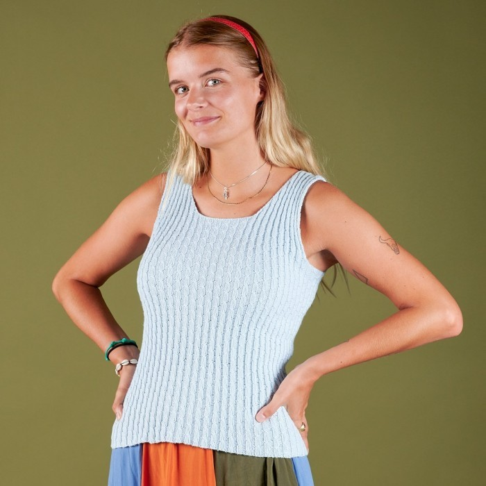Free Knitting Pattern for a Sus Summer Top