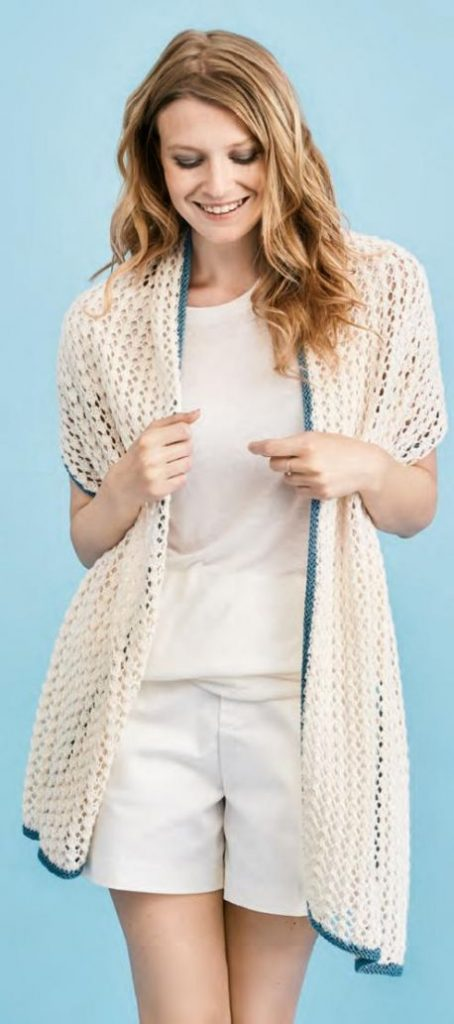 Free Knitting Pattern for an Easy Summer Lace Wrap