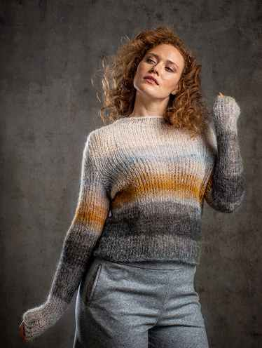 Free Knitting Pattern for an Easy Tapered Sweater