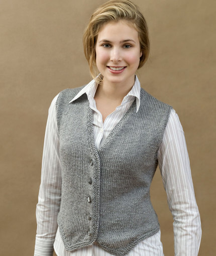 Free V Neck Vest Knitting Patterns for Women
