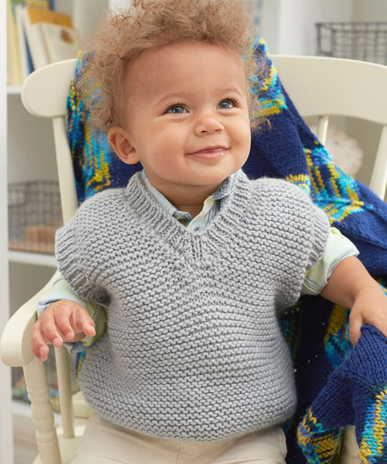 Free knitting pattern for a baby garter vest