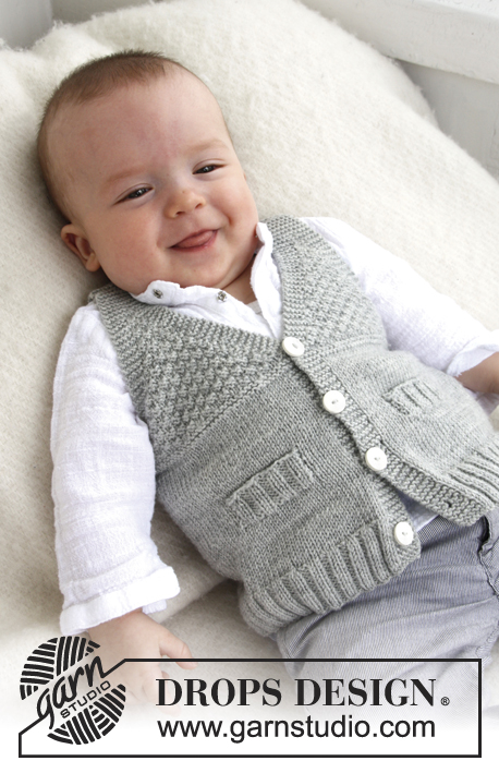 Free knitting pattern for a vest for baby and toddler