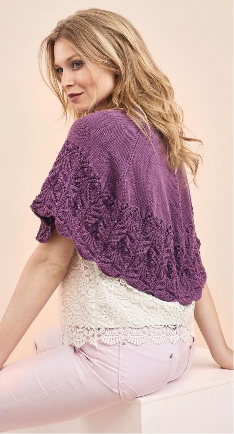 Free Knitting Pattern for a Lace Edged Shawl