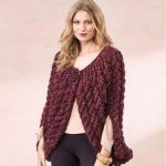 Free Knitting Pattern for a Super Chunky Cable Shrug