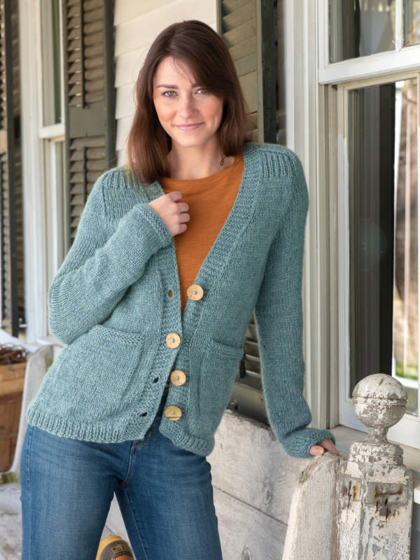 Free Knitting Pattern for a Women's Cardigan