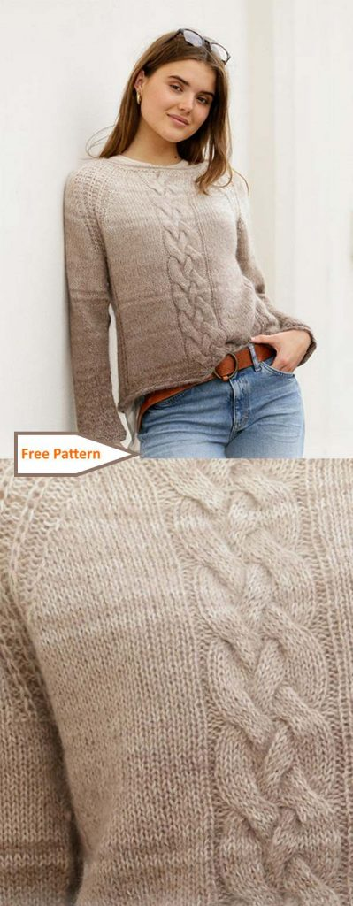 Cable Sweater Knitting Patterns free for women