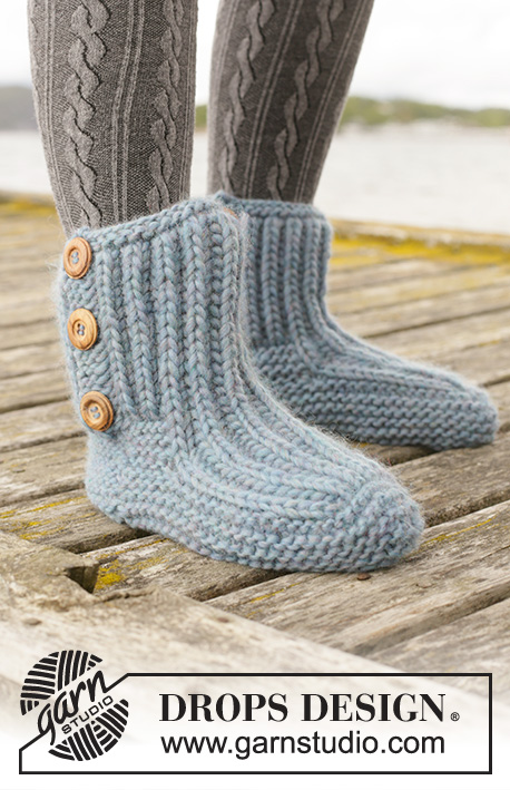 Free Knitting Pattern for Beyond Boots Knit Slippers