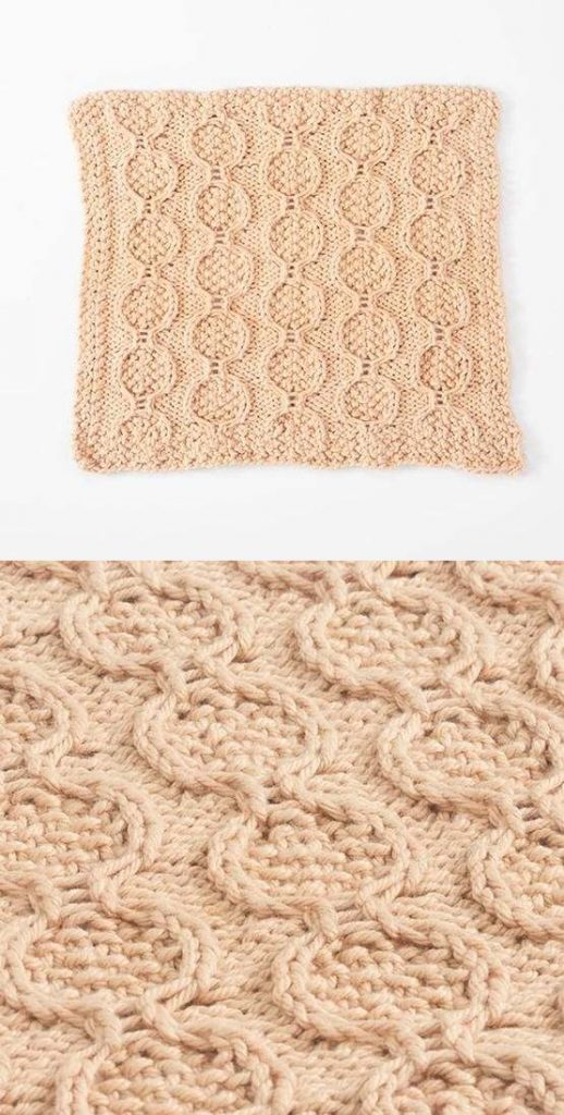 Free Knitting Pattern for a Cable Twist Dishcloth
