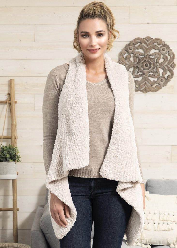 Free Knitting Pattern for a Drape Front Vest