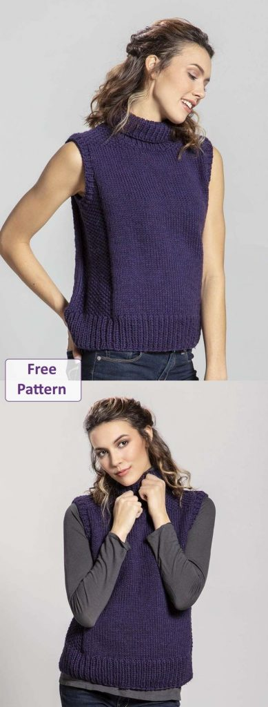 Free Knitting Pattern for a Vest Top