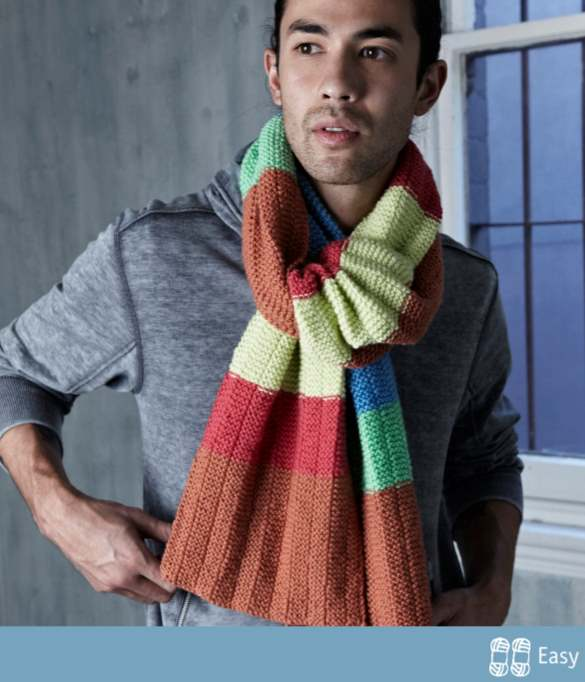 Free Scarf Knitting Patterns Australia cleckheaton 8 ply for men with stripes