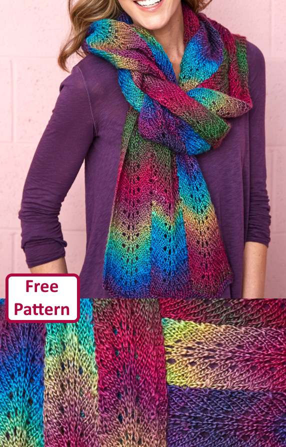 Free Scarf Knitting Patterns pdf feather and fan stitch