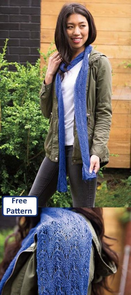 Free Scarf Knitting Patterns pdf lace scarf