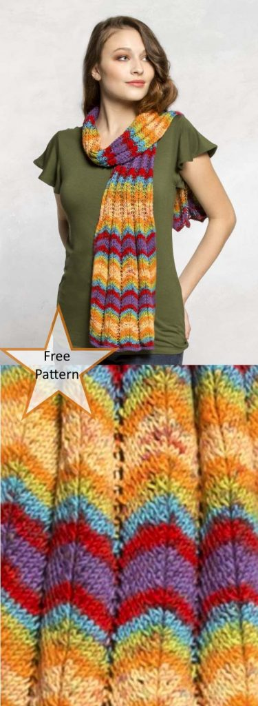 Free Scarf Knitting Patterns pdf ripple