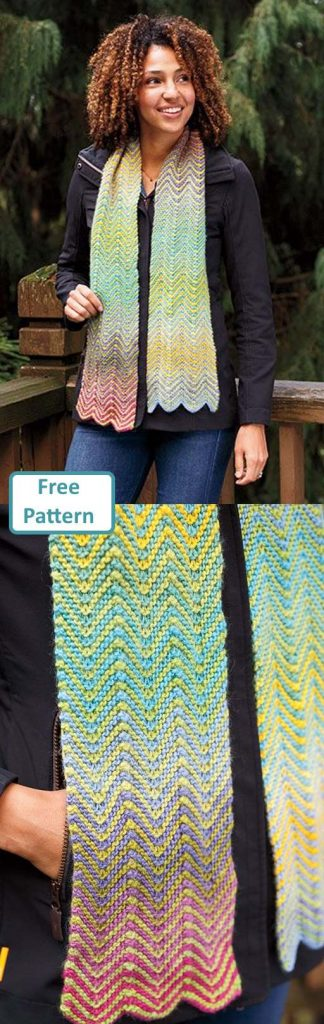 Free Scarf Knitting Patterns pdf wave stitch