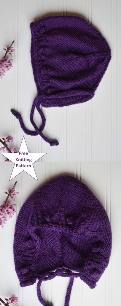Free knitting pattern for a baby bonnet