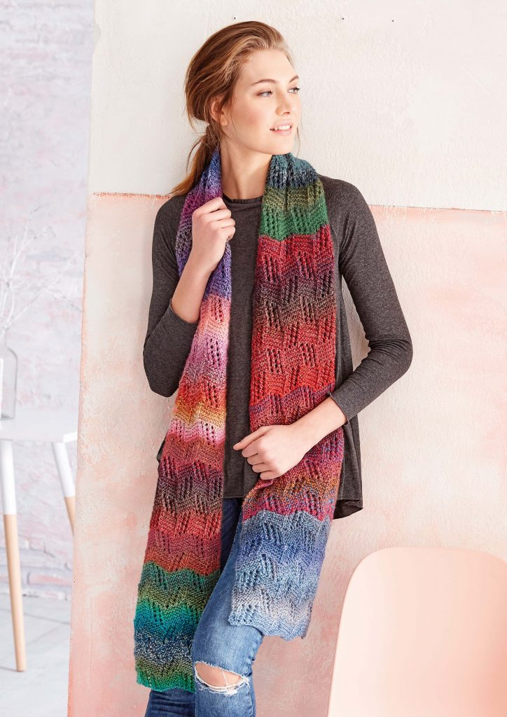 Free knitting pattern for a scarf Patons Yarn