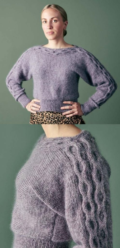 Modern cable sweater knitting pattern free