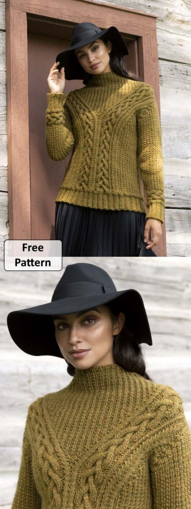 Women's Cable Knit Sweater Patterns Free Patons