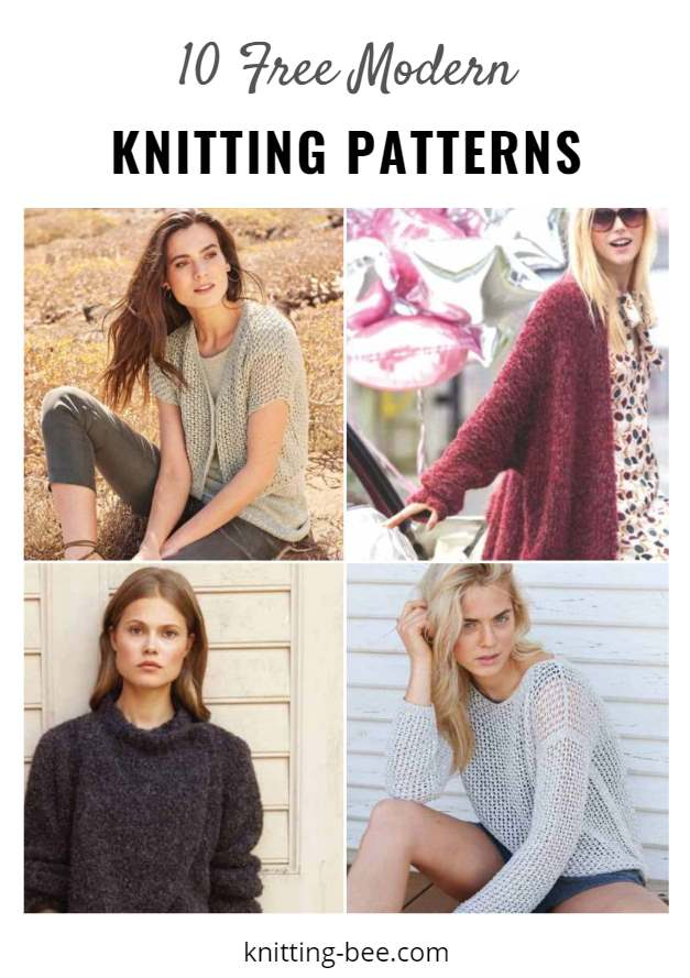 10 Free Modern Women's Knitting Patterns