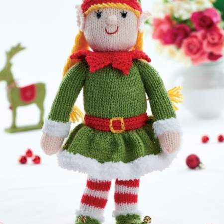 Free knitting pattern for bernadette the elf