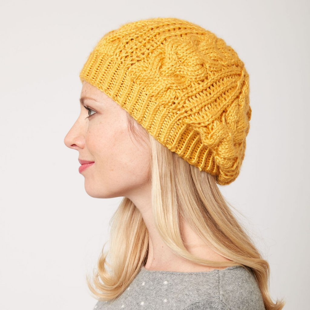 Free Cabled Hat Knitting Pattern