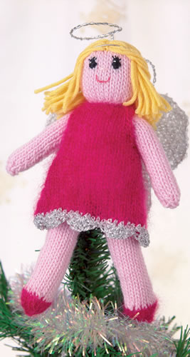 Christmas tree topper angel knit