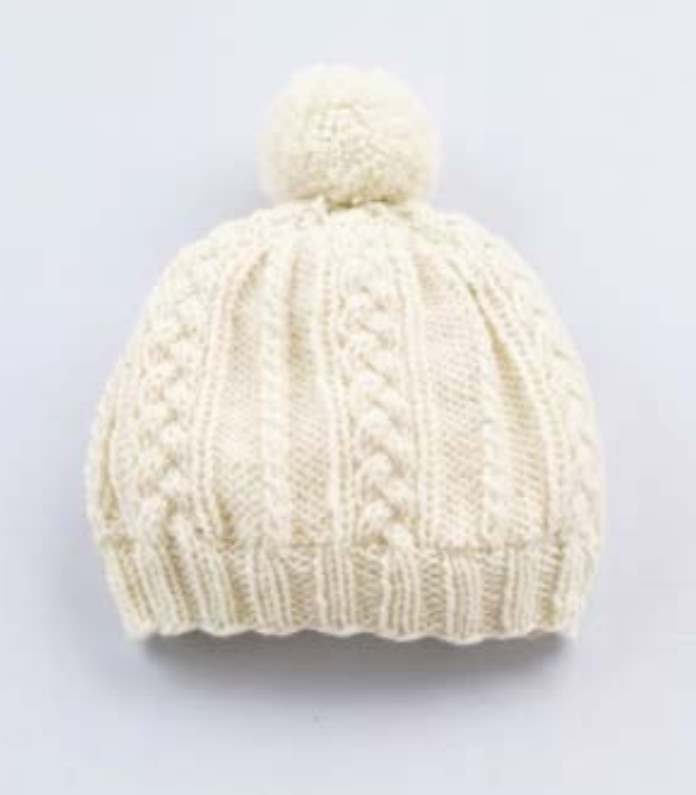 Free Braided Cabled Hat Knitting Pattern Beanie