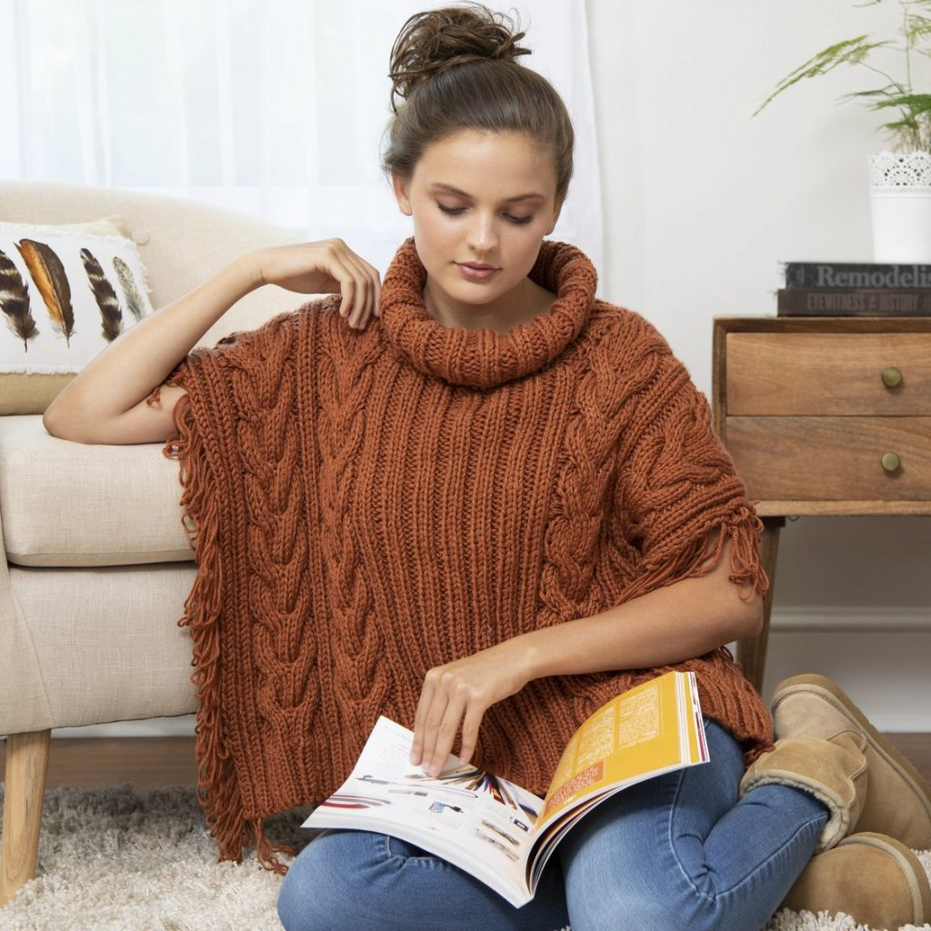 Free Knitting Pattern for Gemma Poncho
