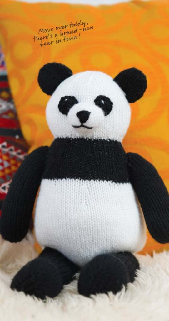 Free Knitting Pattern for Percy the Panda