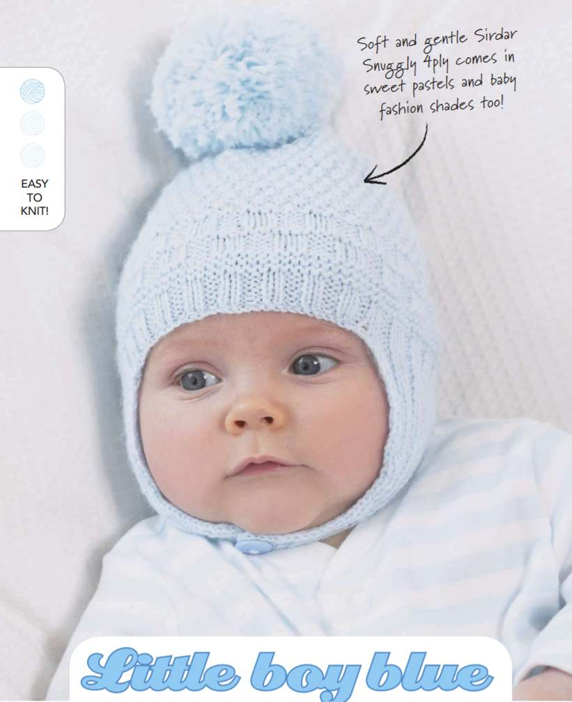 Free Knitting Pattern for a 4 Ply Baby Hat