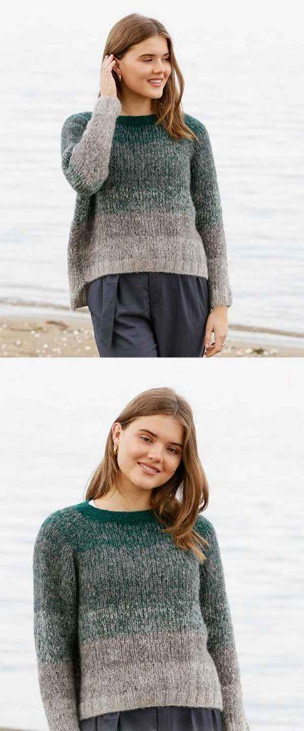 free modern womens sweater knitting pattern