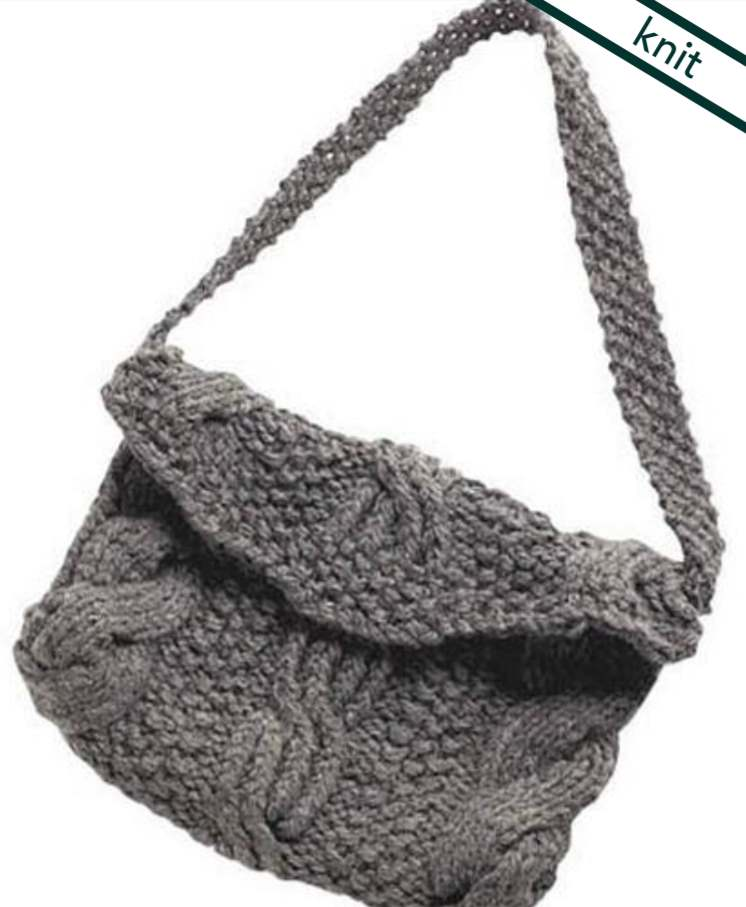 free knitting pattern for a cable stitch purse