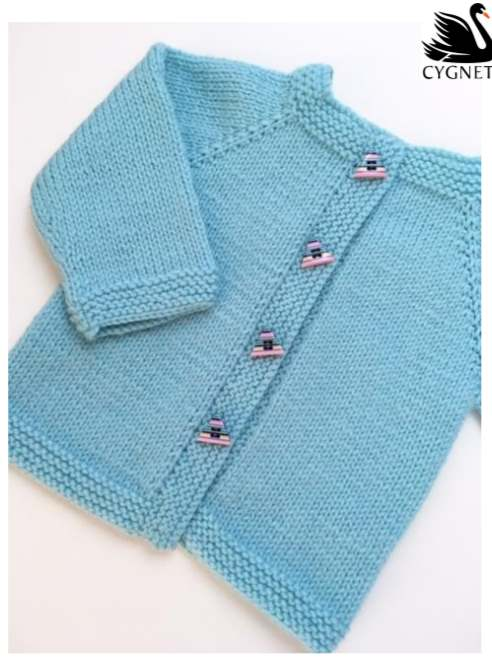 Free baby knitting pattern classic cardigan modern