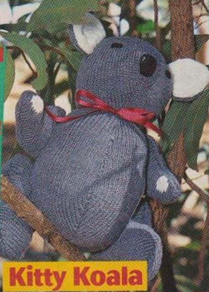 Free knitting pattern for Kitty the Koala