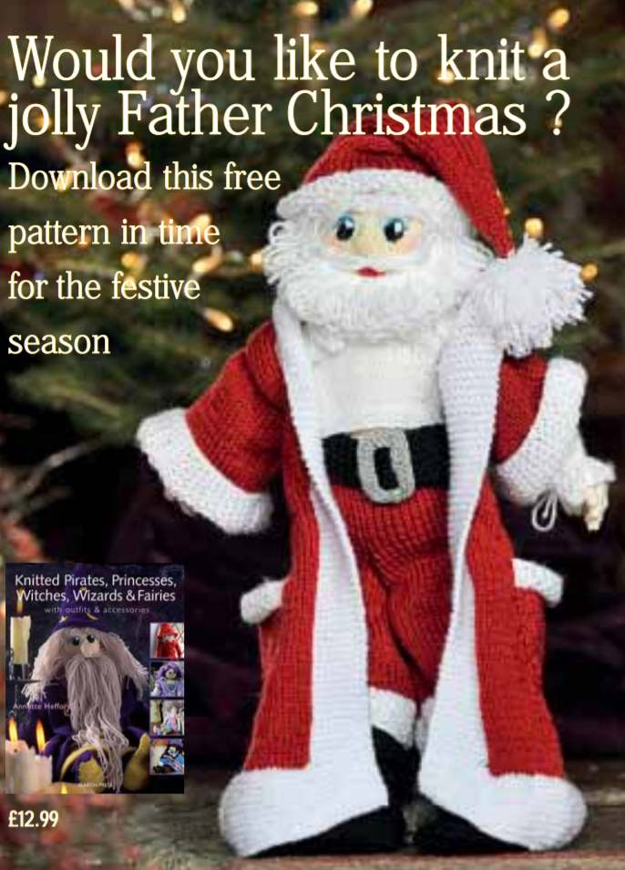 Free knitting pattern for Santa Father Christmas