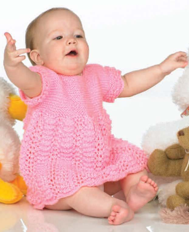 free knitting pattern for a baby and toddler dress