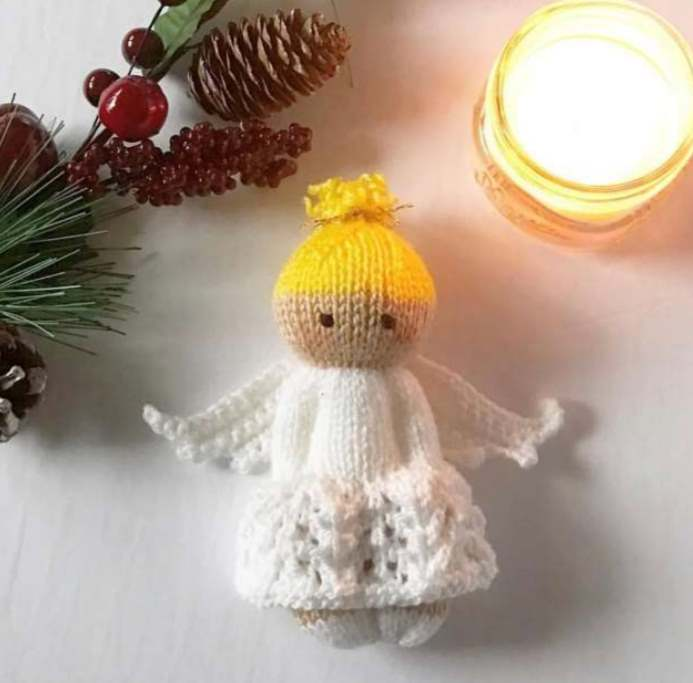 Free knitting pattern for an angel
