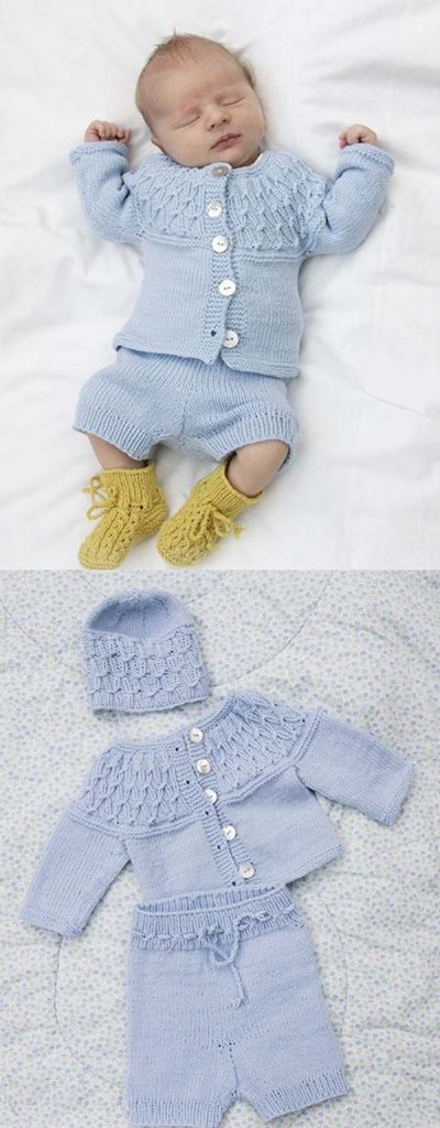 Free knitting pattern set for boys