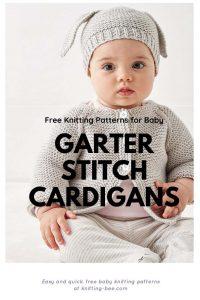 Free knitting patterns for baby garter stitch cardigans