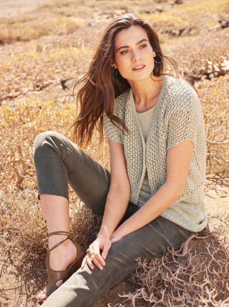 Free modern women's knitting patterns mesh jacket